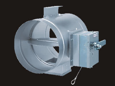 SFD(防煙防火ダンパー)手動復帰式 円型