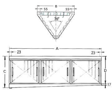 ダブルチェック DCタイプ 両面型 3連体