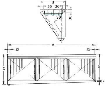 ダブルチェック DCタイプ 片面型 3連体