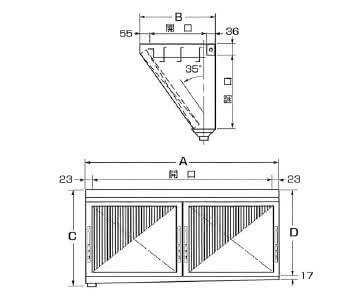 ダブルチェック LLタイプ 片面型 2連体型