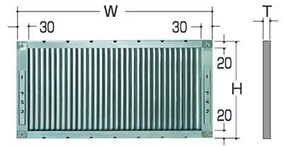 LKフィルタ寸法表